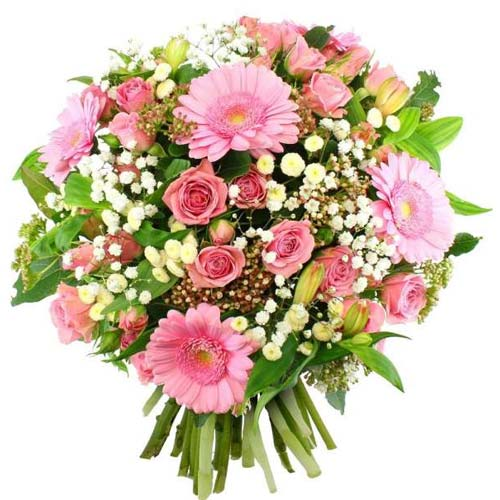 Attention-Getting Pure Expressive Love Mixed Flower Arrangement